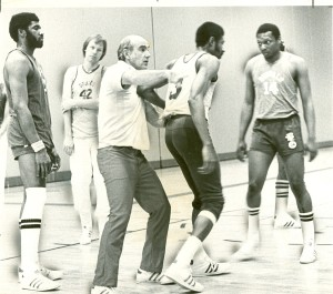 Jack Ramsay directing traffic a Braves practice in 1975